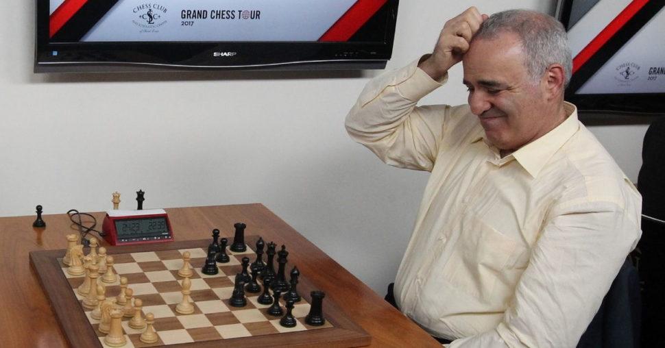 Svetová legenda GM Garry Kasparov po 12-tich rokoch na turnaji